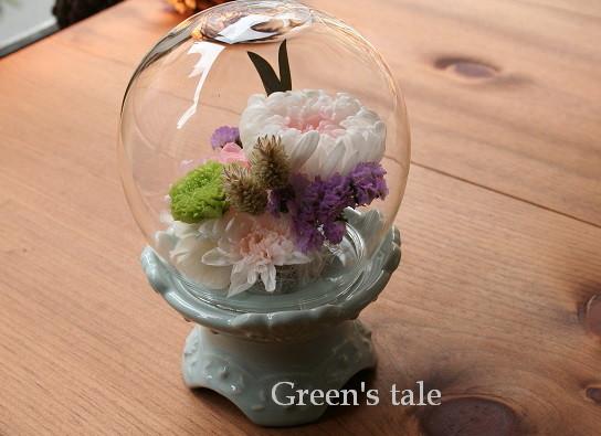 画像1: プリザーブドフラワー   仏前のお花 (ドーム) (1)